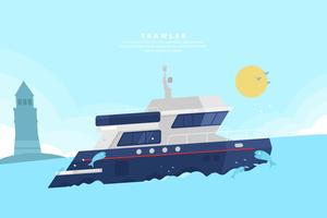 Trawler Illustration vektor