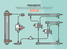 Pneumatisches Infographik vektor
