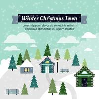 Gratis Flat Design Vector Christmas Greeting Card