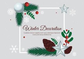 Kostenlose Design Vector Weihnachtsgrußkarte