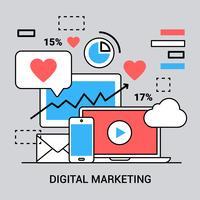 Kostenlose lineare digitale Marketing-Elemente
