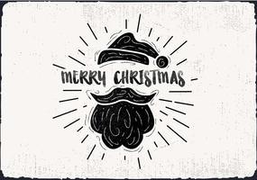 Freie Hand gezeichnete Elf-Hut-Vektor-Gruß-Karte