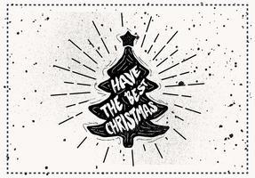 Fri handdragen jul vektor hälsningskort