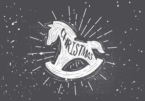 Gratis handdragen jul vektor bakgrund
