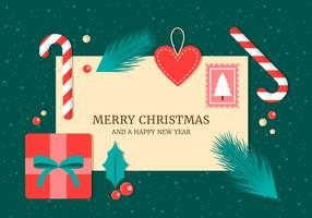 Freier Weihnachtselement-Hintergrund-Vektor