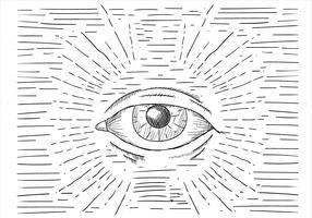 Kostenlose Hand gezeichnete Vektor-Augen-Illustration vektor