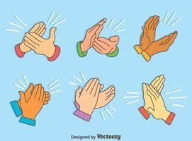 Hände, die Sammlungs-Vektoren klatschen