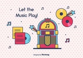 Musikbox Vektor Hintergrund
