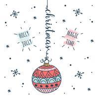 Doodle Weihnachten Hintergrund vektor