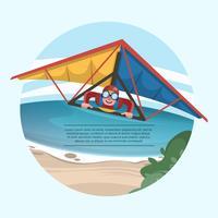 Strand Segelflugzeug-Vektor-Illustration