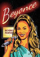 Beyonce affisch vektor