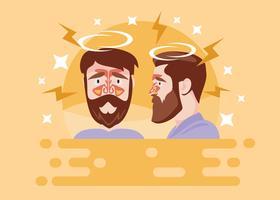 Freies Mann-Gesicht mit Sinus-Krankheits-Vektor