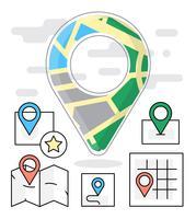 Kostenlose lineare Navigationssymbole