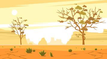 Gummibäume im unfruchtbaren Ödland geben Vektor frei