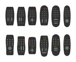 Fjärrkontroll eller TV-ikoner vektor