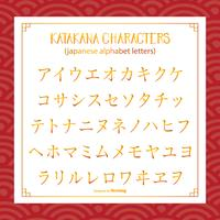 Katakana-Art-japanisches Alphabet / Buchstaben