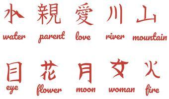 Kostenlose japanische Buchstaben Vektoren
