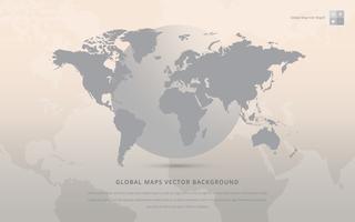 Global Kartor Vektor Bakgrund.