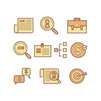 Freie Jobsuche Icon Vector