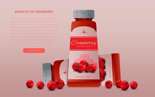 Cranberries für kosmetische Schönheits-Schablone