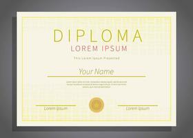 Kostenlose horizontale Diplom-Schablonen-Illustration