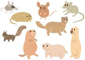 Kostenlose Cute Wild Nagetiere Vektoren