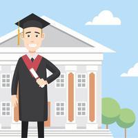 Diplom-Absolvent-freier Vektor