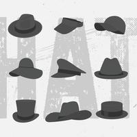 vektor samling hattar