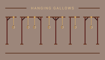 Hängande Gallows Icon vektor
