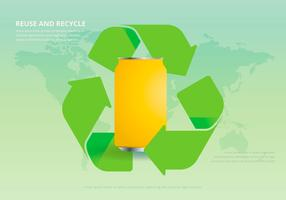 Recyceln und wiederverwenden Tin Box und anderen Müll vektor