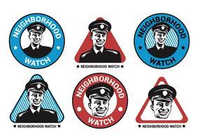 Nachbarschafts-Uhr-Vektor-Logo-Sammlung vektor