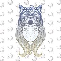 Schamane-Mädchen-Illustration