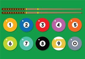 9 Ball Vektor festgelegt
