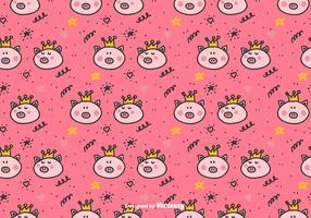 Prinzessin Pigs Vector Pattern