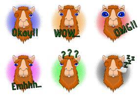 llama huvud vektor uppsättning