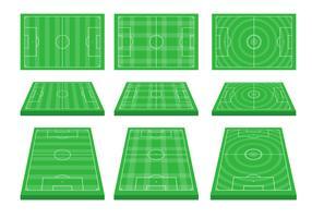 Fotbollsplan vektor uppsättning