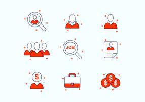Jobsuche Icon Set vektor