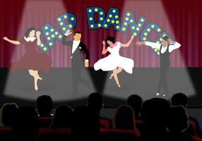 Tryck på dansare på scenen vektor