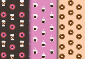 Kostenlose Cute Breakfast Food Patterns vektor