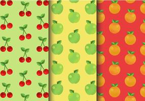 Kostenlose süße Fruchtmuster vektor