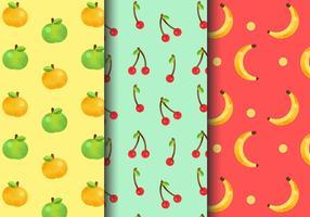 Kostenlose Seamless Fruit Patterns vektor