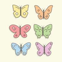 Kostenlose bunte Schmetterlinge Vector