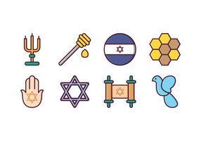 Kostenlose Israel Icon Set vektor