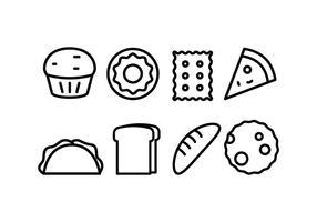 Bröd och Bageri Ikoner vektor