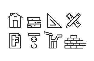 Architektur-Icon-Paket vektor