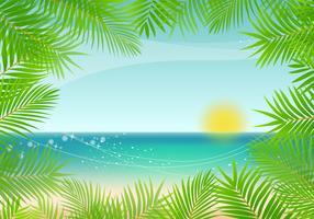 Palm bakgrundsvektor vektor