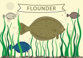 Flunder Fisch Vektor