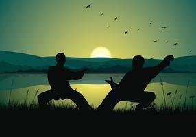 Wushu, das freien Vektor ausbildet