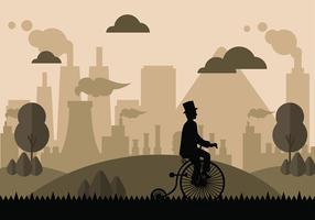Weinlese Bicicleta geben Vektor frei
