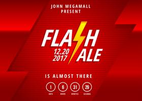 Flash Försäljning Banner Gratis Vector